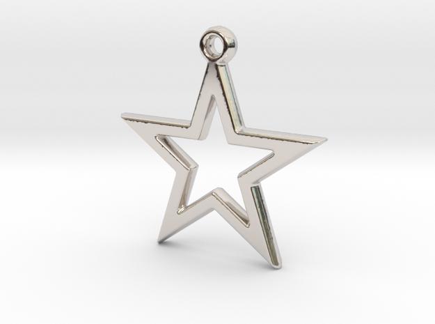 STAR9 in Rhodium Plated Brass