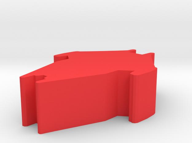 Game Piece, Reptoid Regime Cruiser in Red Processed Versatile Plastic