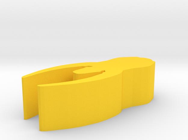 Game Piece, Mystic Squid Empire Cruiser in Yellow Processed Versatile Plastic