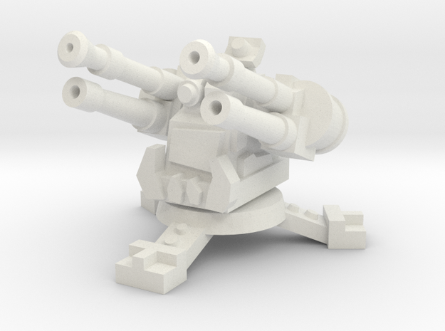 15mm Greenskin AA Turret (x1) in White Natural Versatile Plastic