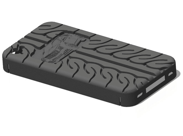 iPhone 4S Cadillac CTS AD08 tread in Black Natural Versatile Plastic