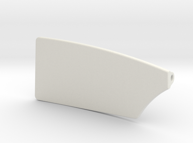 6 inch Port Rowing Blade in White Natural Versatile Plastic