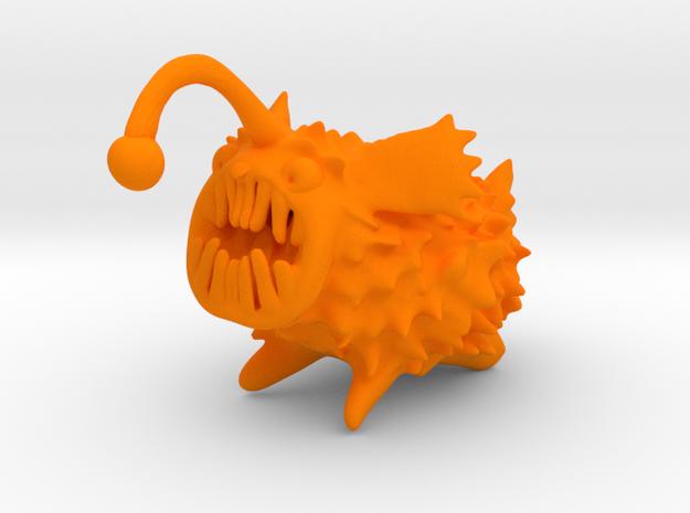 Anglerdog in Orange Processed Versatile Plastic