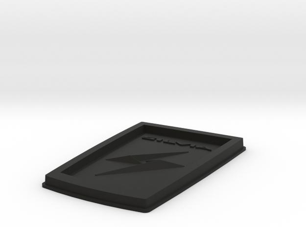 S12 Silvia Bonnet Badge Replica - Plastic in Black Natural Versatile Plastic