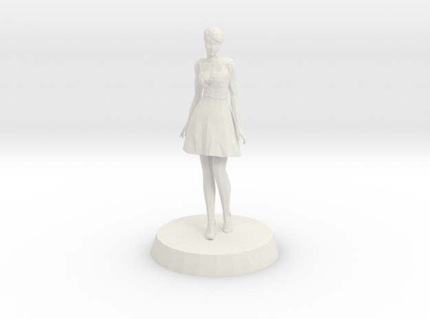 Girl - Standing in White Strong & Flexible