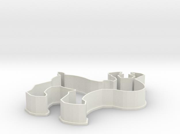 Reindeer Cookie Cutter in White Natural Versatile Plastic