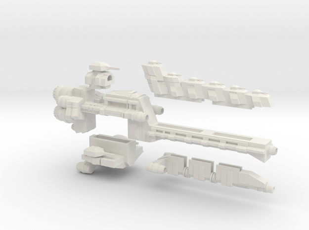 Test Linebacker Class Adatable Frigate  in White Natural Versatile Plastic