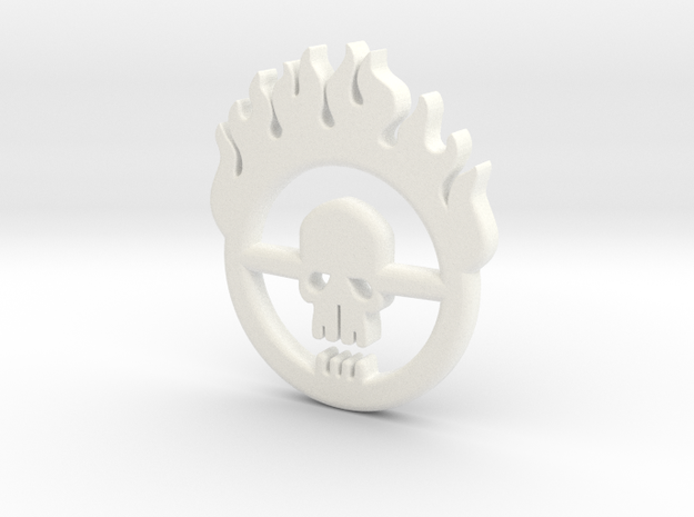 Mad Max: Fury Road Brand Pendant in White Strong & Flexible Polished