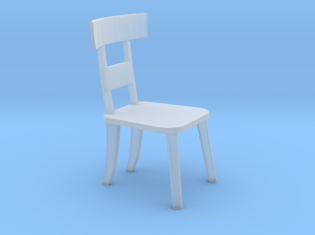 Chair HO Scale in Smoothest Fine Detail Plastic