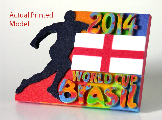 2014 World Cup - Brazil 3d printed Actual Printed England Model