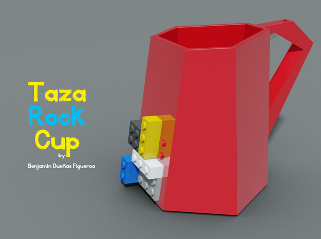 Taza Rock 3d printed