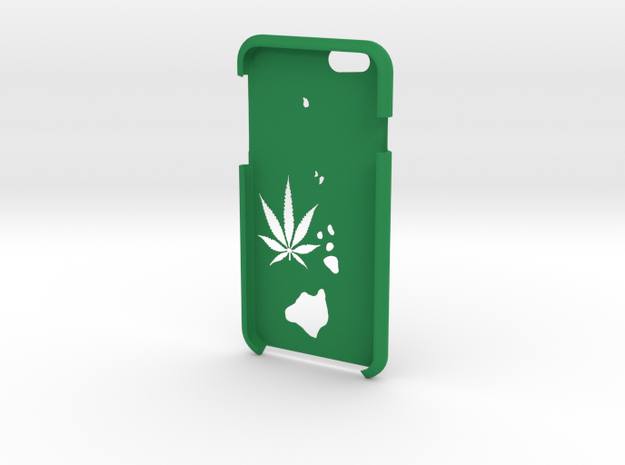 Hawaii Iphone 6s Case in Green Strong & Flexible Polished
