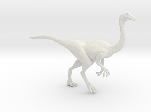 Gallimimus Pose 01 1/24 - DeCoster in White Natural Versatile Plastic