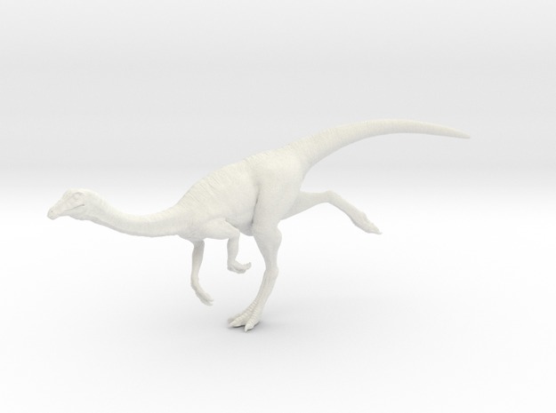 Gallimimus Pose 03 1/24 - DeCoster in White Natural Versatile Plastic