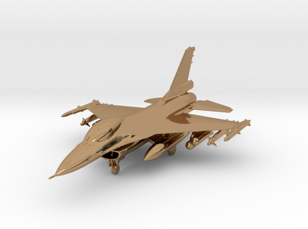 F-16 Fighting Falcon Jet Gold & Precious materials