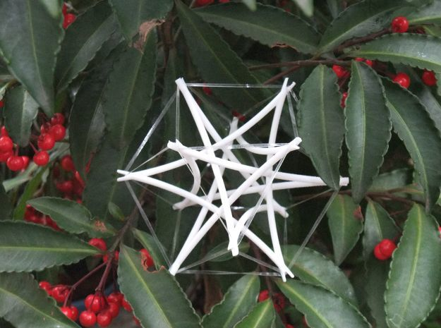 Tensegrity Cuboctahedron 2 in White Strong & Flexible