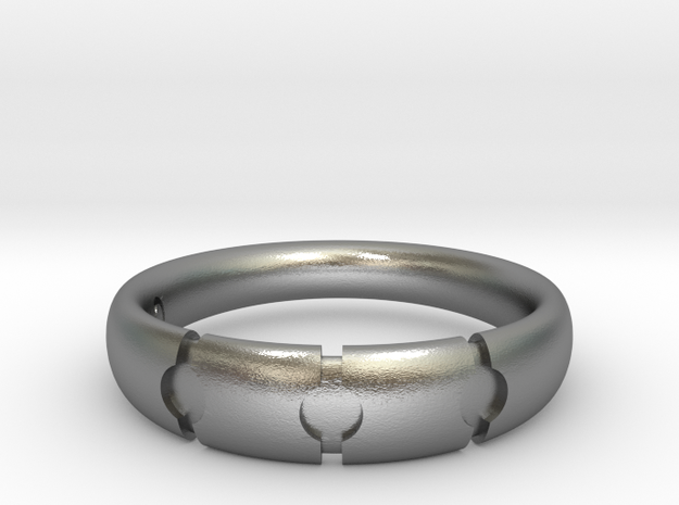 Enigmatic ring_Size 12 in Natural Silver