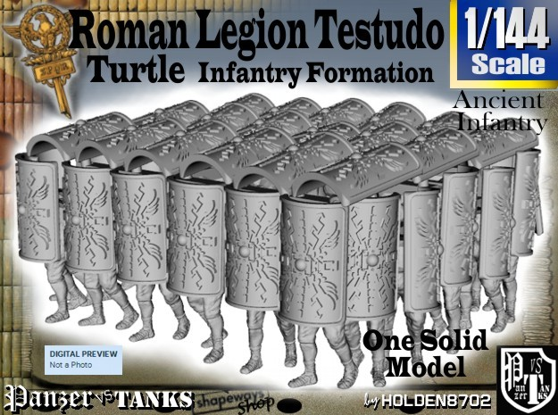 1-144 Roman Testudo in Frosted Ultra Detail