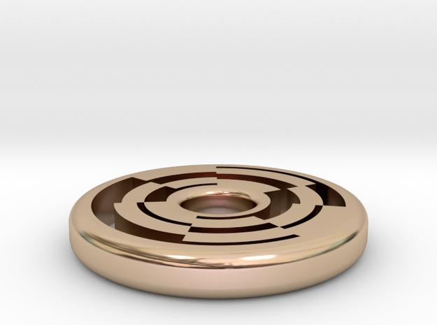 Circular Maze Pendant