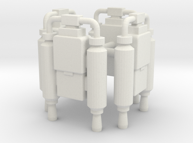 EQ07 Joe Jet Pack - set of 4 (28mm) 3d printed