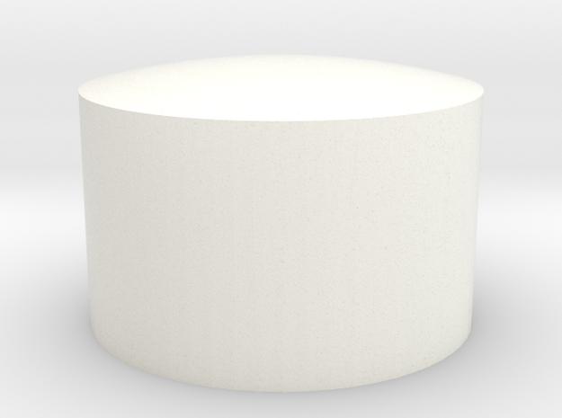 .75 Concave Insert in White Processed Versatile Plastic