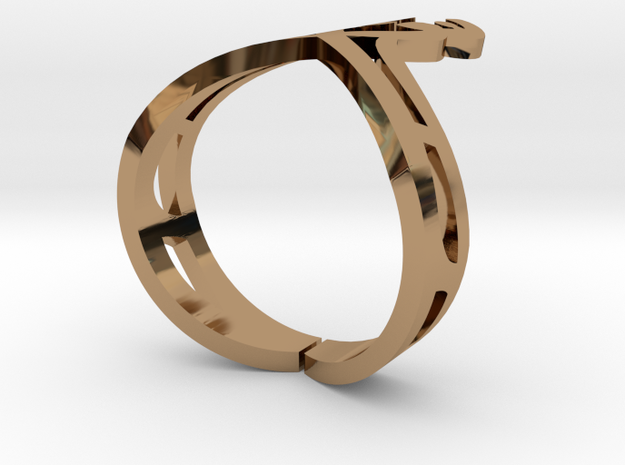 Nor Ring1 in Polished Brass