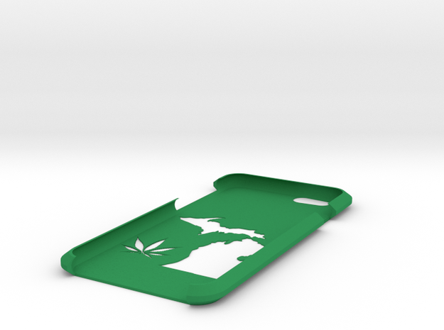 Michigan Legalize Iphone Case in Green Strong & Flexible Polished