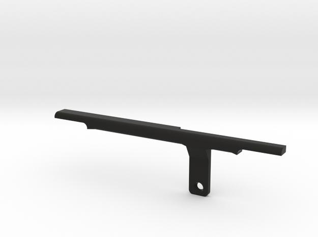 ThumbRail -Bridge-fits Fender Amer Dlx Jazz 5 in Black Natural Versatile Plastic