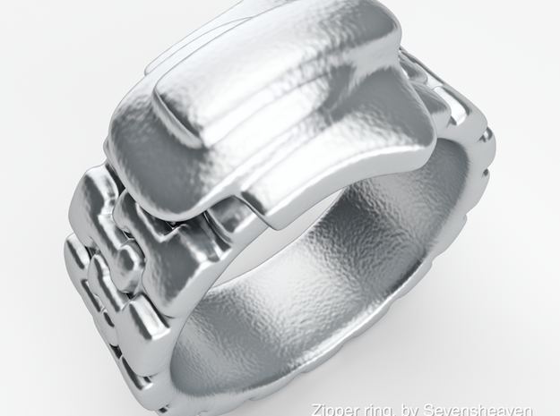 Zipper ring 3d printed