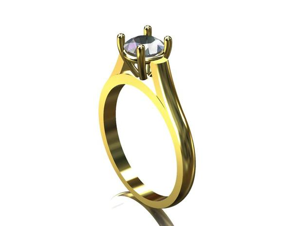 0.50 ct Engagement Ring 3d printed