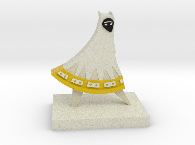 Journey Companion Trophy (White Version) in Full Color Sandstone