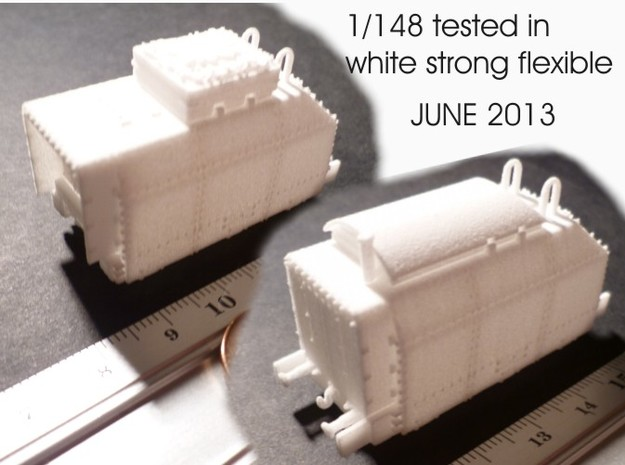 1-148 BR 57 Armored Loco + 2 Tenders For BP-42 3d printed