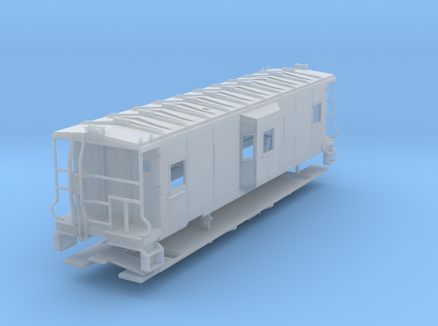 Sou Ry. bay window caboose - mod. Hayne - S scale in Smooth Fine Detail Plastic