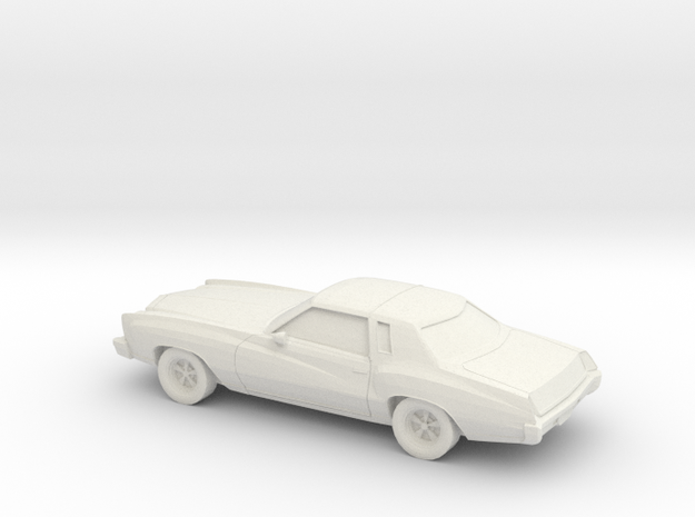1/87 1976-77  Chevrolet Monte Carlo in White Natural Versatile Plastic