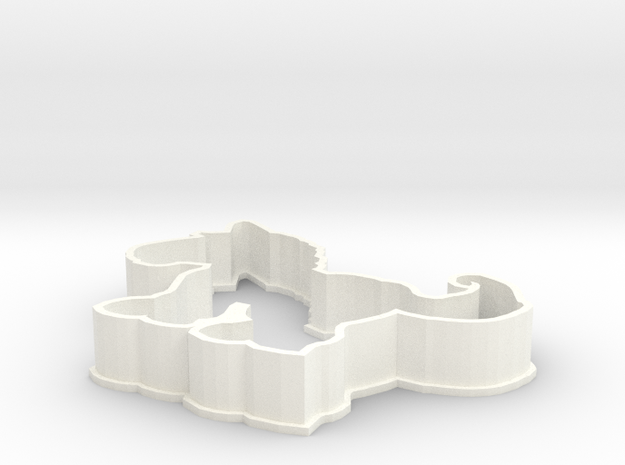 Horse cookie cutter in White Processed Versatile Plastic