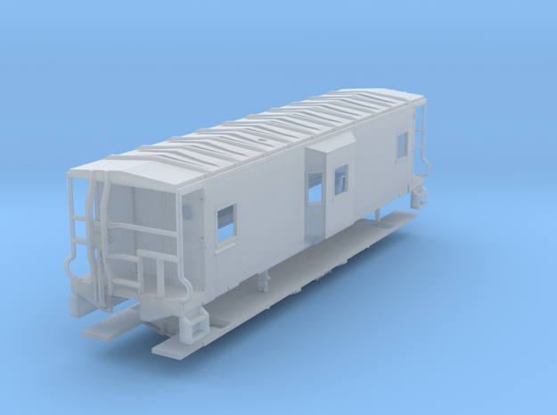 Sou Ry. bay window caboose - Gantt - TT scale in Frosted Ultra Detail