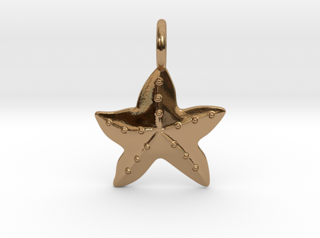 Sea Star Pendant in Polished Brass