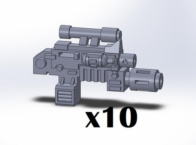 10x Melta Combination Weapons in Smooth Fine Detail Plastic