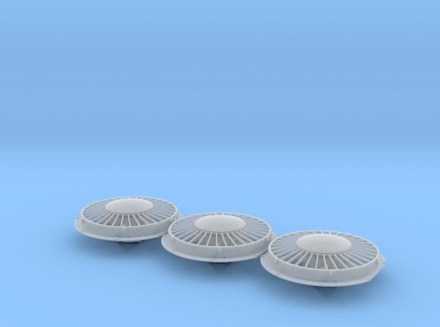 """FN0010 48"""" Cap Fan 1/87.1 in Smoothest Fine Detail Plastic"""