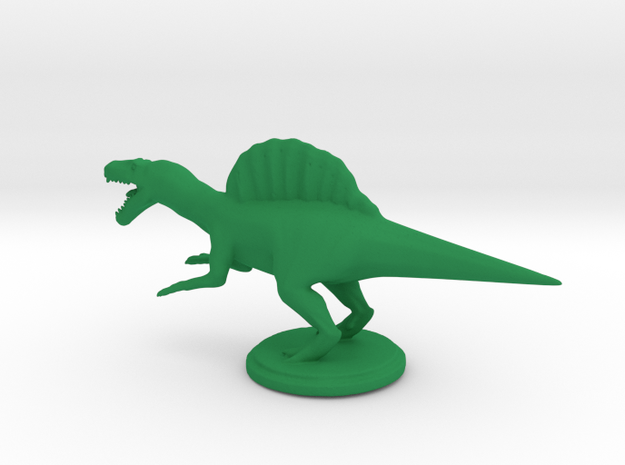 Replica Miniature Dinosaurs Spinosaurus Model A.02 in Green Processed Versatile Plastic