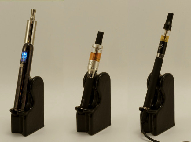 E-Cig Cradle: The Nicolounger, box style 3d printed This is gloss black ceramic