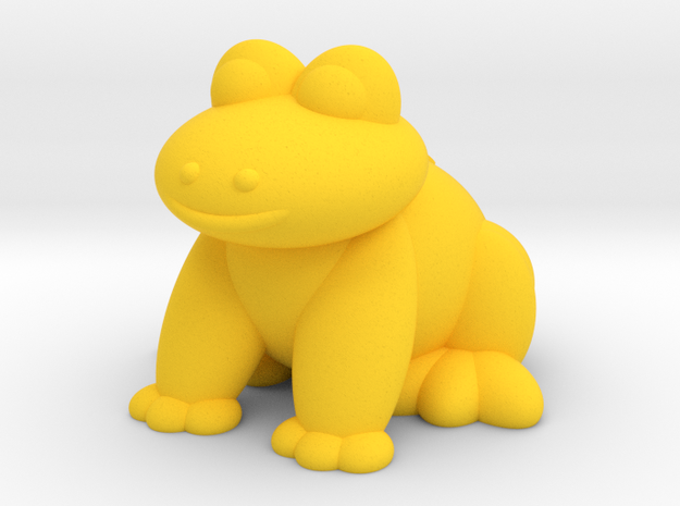 Frog (Nikoss'Animals) in Yellow Strong & Flexible Polished