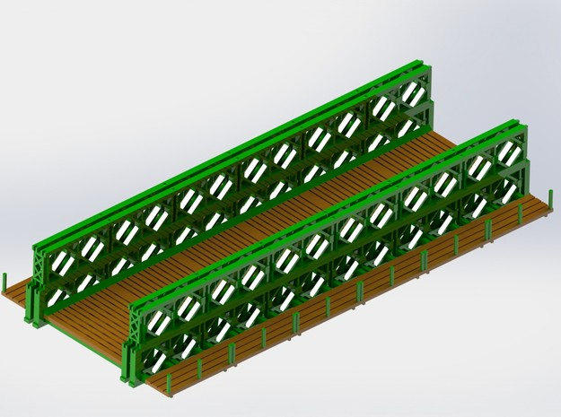Bailey Bridge Upper Girder 1/285 6mm 3d printed