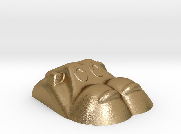 Hippopotamus-4 in Polished Gold Steel
