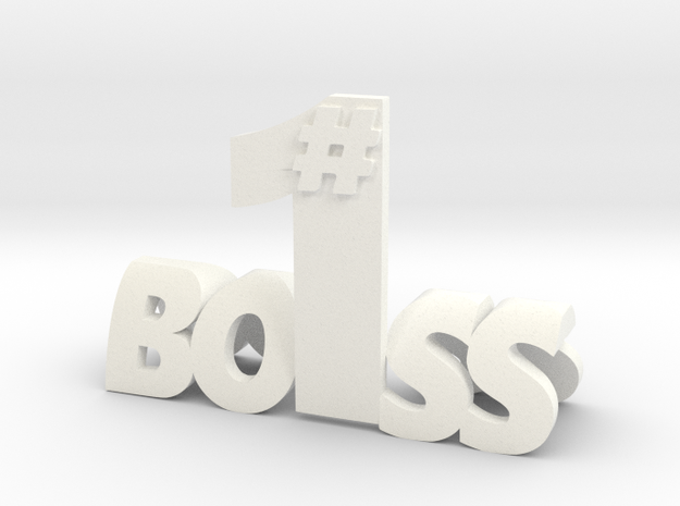 Boss in White Processed Versatile Plastic