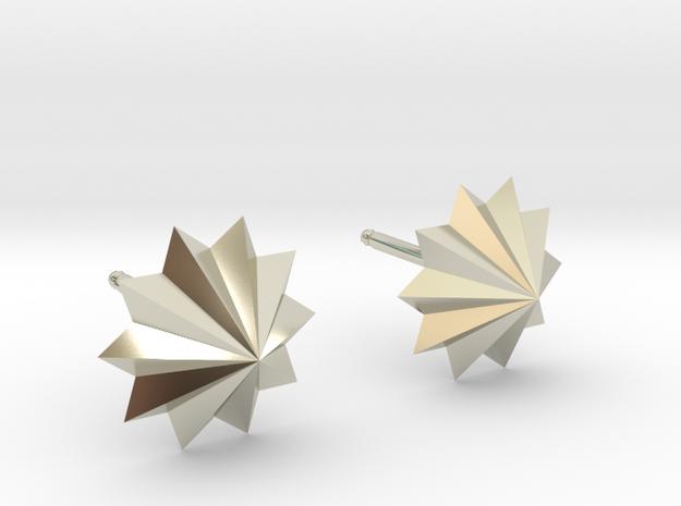 Star Earrings in 14k White Gold