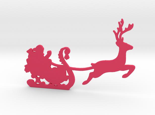 Santa Wall Decal in Pink Processed Versatile Plastic
