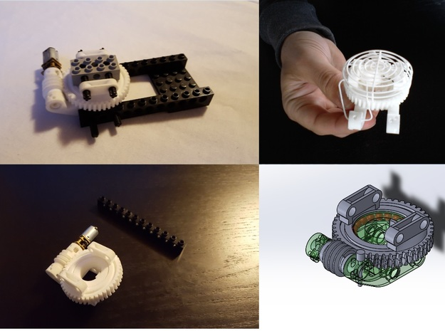 Worm Gear  in White Natural Versatile Plastic