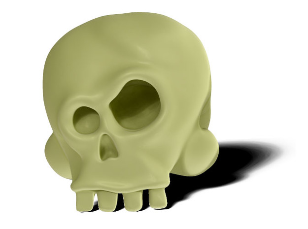 Skull Bob 3d printed Skull Bob is happy today