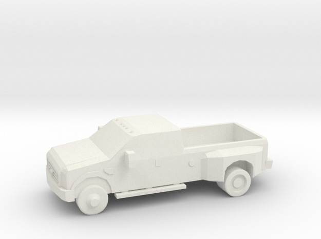 10mm (1/144) 2008 Ford F-350 in White Strong & Flexible